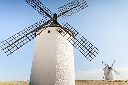 Posterazzi DPI12305375LARGE Famous windmills in Campo Criptana where the stories of Don Quixote come from; Ciudad Real Castilla-La mancha Spain Poster Print 38 x 24