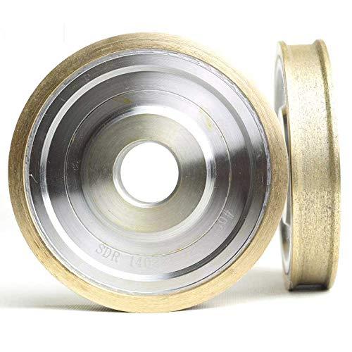 Maslin Straight edge diamond wheel for glass metal bond abrasive wheels for glass ceramic edging and beveling hole 22mm grit 150 M008 - (Grit: D100T5)