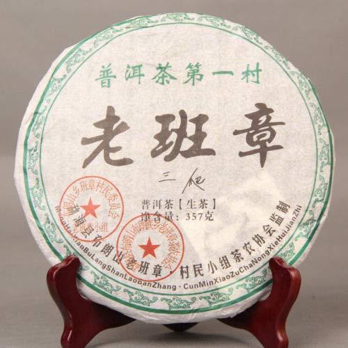(Pu Erh Cake 2008 The First Village Lao Ban Zhang Menghai Puer Tea Raw PuErh Shen 357g Yunnan Aged)