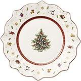 Villeroy & Boch Toy's Delight 1485852642 - Piatto colazione in porcellana a tema natalizio, Bianco, Diametro 240 mm, 1 pezzo