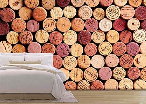 Closeup of a Wall of Used Wine Corks a Random Selection of Use Wine Corks Some with Vintage Years