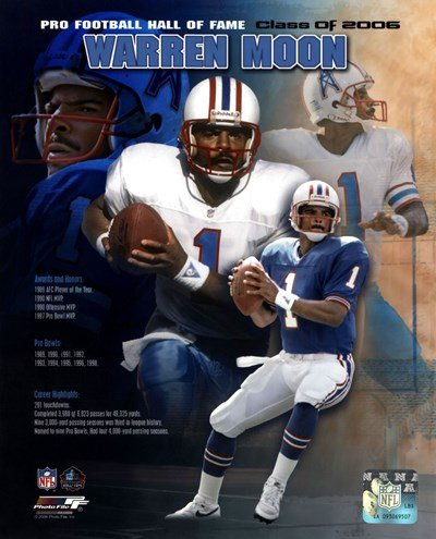 Warren Moon - 2006 Hall of Fame Legends Composite - 8x10 Inches - Art Print Poster