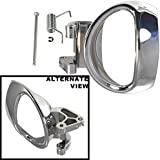 APDTY 112672 Interior Door Chrome Handle w/Pin & Spring Fits Left Driver-Side Front or Rear Fits 2006-2011 Chevrolet HHR (Replaces GM 19299614, 25812196)