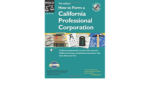 How to Form a California Professional Corporation: Anthony Mancuso ...