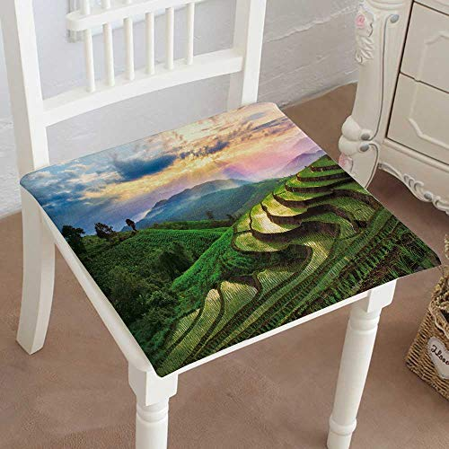 Cheap  Mikihome Squared Seat Cushion terraced Rice Field in chiangmai Thailand Garden Patio..