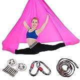 Aerial Yoga Hammock Premium Aerial Silk Yoga Swing Antigravity Yoga,Inversion Exercises,Improved Flexibility & Core Strength