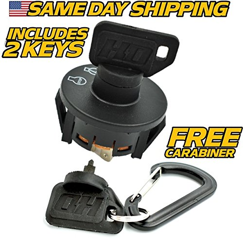 Toro Ignition Switch Time Cutter SS4225 SS4235 SS4250 SS4260 SS5000 with 2 Keys & Free Carabiner - HD Switch