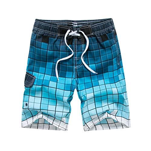 Casual Uomo UomoCorti Estivipanpany Stampati Rapida A Pantaloncini Blu Alla Moda Asciugatura Da Spiaggia Per Sciolti q54ARjL3