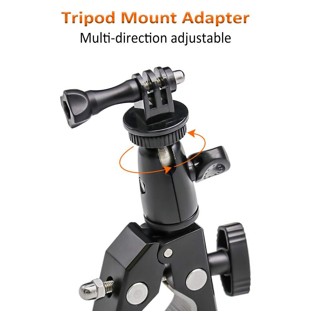 1//4-20 Rosca + Antideslizante Clamp EXSHOW Soporte for GoPro Universal for GoPro Hero 7 6 5 4 3+ 3 2 and Other Action Cameras Soporte Camera para Moto Bike Manillar