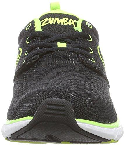 Zumba Footwear Zumba Fly Print - zapatillas deportivas de material sintético mujer verde - Grün (Black Snake/Yellow)