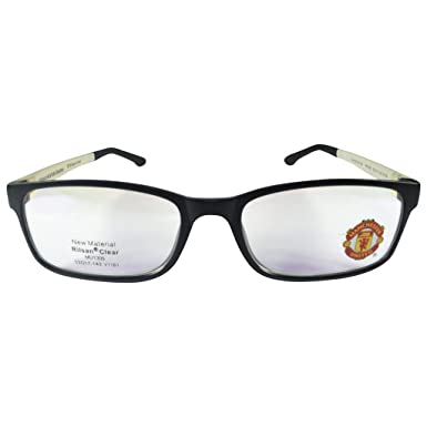 f6cd4f825 Manchester United MUFC Full Rim Rectangular Unisex Spectacle Frames-Black  and white  Amazon.in  Clothing   Accessories