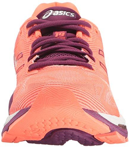 Flash White à Purple course Gris Coral Taille de Dark pied nbsp;Chaussures 19 Rouge Gel Pour 37 unique EU ASICS femme Nimbus TqUYw6TB