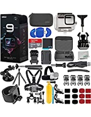 $519 » GoPro HERO9 (Hero 9) Black with Deluxe Accessory Bundle - Includes: SanDisk Ultra 64GB MicroSDHC Memory Card, Premium Hard Case for GoPro, Underwater Housing, Helmet Arm Extension Kit & Much More