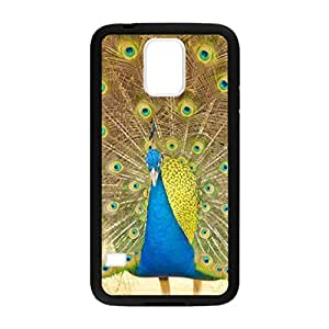 Yellow Peacock Pattern Image Case Cover Hard Plastic Case for Samsung Galaxy S5 i9600 Regular