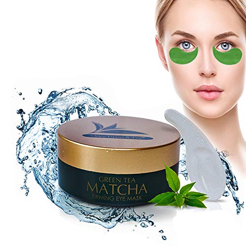 (Green Tea Matcha Firming Eye Mask, Best Collagen Patches For Fine Lines, Wrinkles, Under Eye Bags & Puffy Eyes Treatment, Face Anti-Aging Gel Pads, Facial Dark Circles & Tired, Saggy Skin Care)