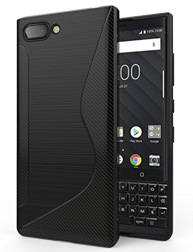 BlackBerry KEY2 Case,SLMY(TM) Ultra [Slim Thin] Scratch Resistant TPU Rubber Soft Skin Silicone Protective Cases Cover for BlackBerry KEY2 2018- Black