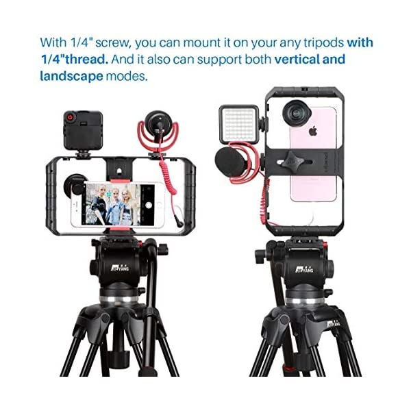 ULANZI u-rig Pro smartphone video Rig palmare iPhone Filmmaking gabbia con 3 Cold Shoe Mount Phone video stabilizzatore per video proiettore Videomaker per iphone 11 pro max x 8 7 Plus Samsung Xiaomi 4 spesavip
