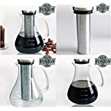 Cold Brew Coffee Maker For Iced Coffee With Glass Pitcher Also Great For Cold Brew Tea Holds 48 Ounces Or 6 Cups