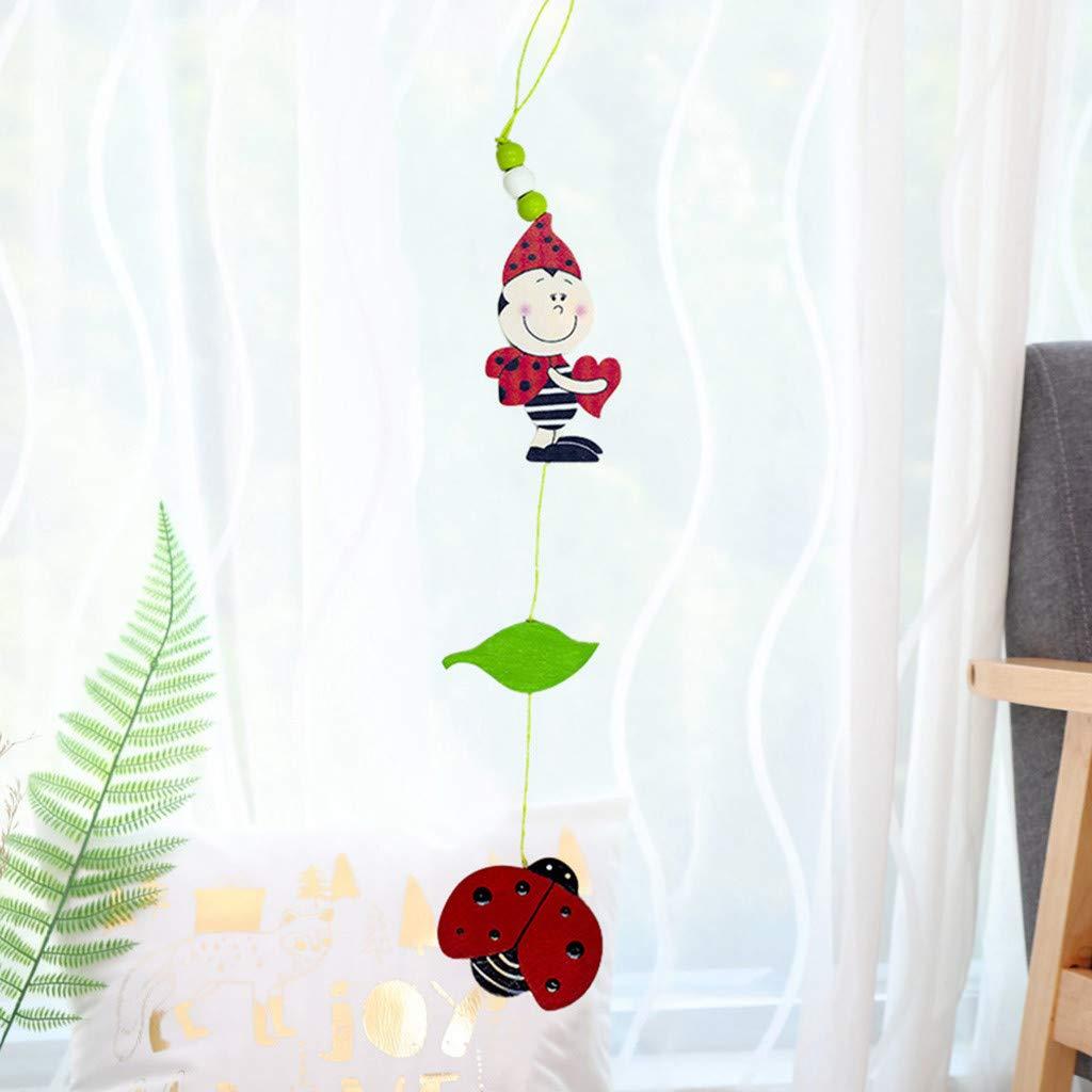 Sunyastor Easter Gift Mini Wooden Pendant for Easter Cute Rabbit Egg Door Hanging Pendant Props Home Hanging Room Decoration Gift