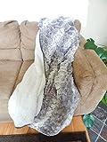 Snake Skin sherpa Mink Blanket Throw
