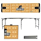 NCAA Providence College Friars basketball Court Version 8 Foot Folding Tailgate Table,1234,Multicolored