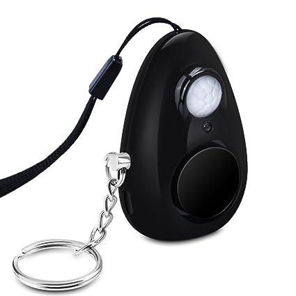 Mini Alarma Personal 120db con Sensor de infrarrojos inteligente Batería recargable Imán Lámpara LED Olycism Portátil