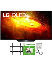 LG OLED65BXPUA 65 inch BX 4K Smart OLED TV with AI ThinQ 2020 Model Bundle with TaskRabbit Installation Services + Deco Gear Wall Mount + HDMI Cables + Surge Adapter