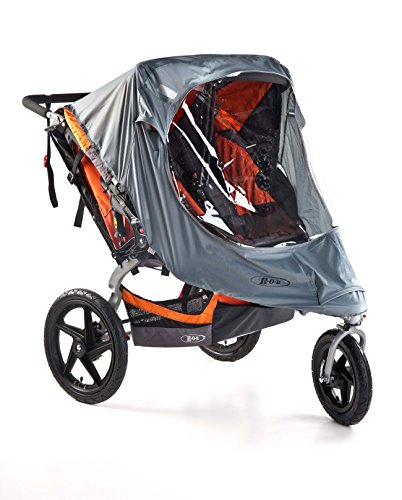 (BOB Weather Shield for Duallie Swivel Wheel Strollers, Grey)