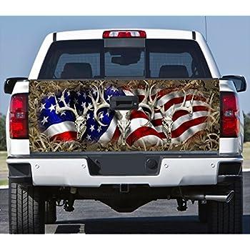 Amazon.com: Distressed American Flag Truck Hood Vinyl ...