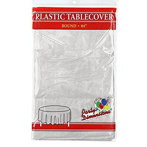 Clear Round Plastic Tablecloth - 4 Pack -