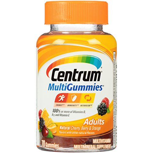 Centrum Multivitamin Dietary Supplement Gummies - Cherry Berry & Orange - 70ct