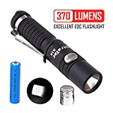10440 battery - UltraTac K18 Powerful Keychain Flashlight, CREE LED Keyring Light 370 Lumen Side Button Switch High Lumen Waterproof USB Rechargeable w/ 10440 Battery and Charger (Black)