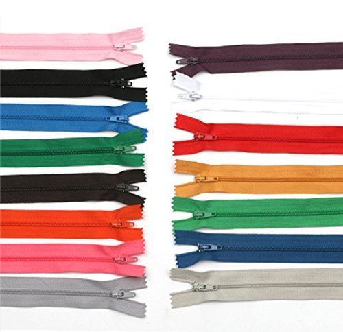 - 50Pcs 7 Inches Nylon Invisible Zippers for Tailor Sewer Sewing Craft Supplies, Color Random