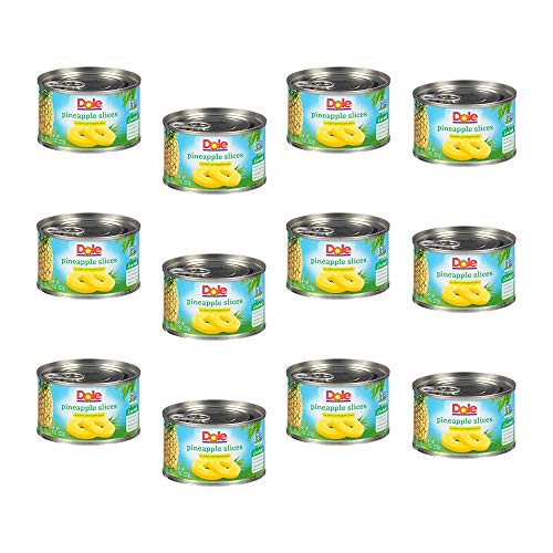 Dole Canned Pineapple Slices in 100% Fruit Juice, 8 Ounce Can (Pack of 12)