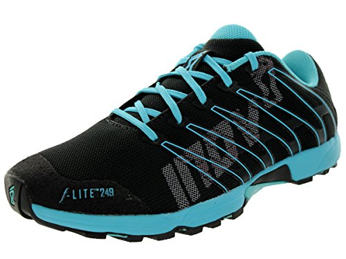 Cheap Inov-8 Women's F-Lite 249 Cross-Training Shoe,Raven/Blue,10.5 D US