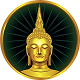 Thai Sitting Buddha Statue Label Home Decal Vinyl Sticker 12'' X 12''