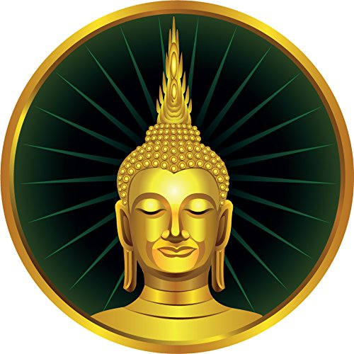 Thai Sitting Buddha Statue Label Home Decal Vinyl Sticker 12'' X 12'' by innagrom