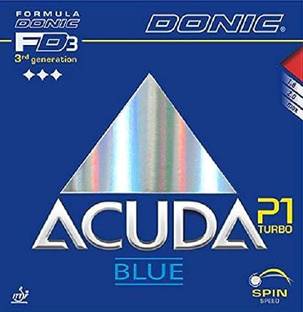 Tenis de mesa goma Donic Acuda azul P1Turbo, Max, color rojo