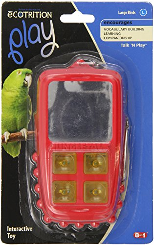 Jungle Talk Pet Products BJN47010 Play Phone Bird Interactive Toys, Large