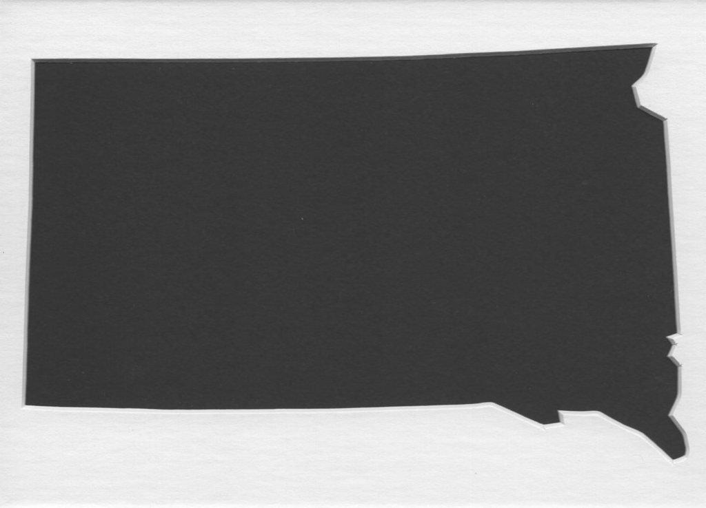 11x14 サウスダコタ州ステンシル 4層マットボード製 B06X9ZZTDV