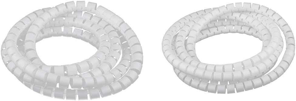 20mm PE Cable Tidy Wire Storage Organizador Spiral Wrap Color Blanco MagiDeal 2Pcs 15mm