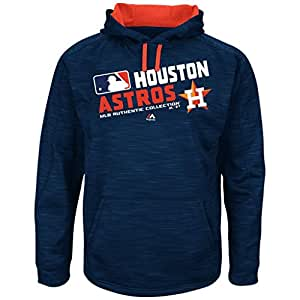 MLB Men's Authentic Collection Team Choice Streak Fleece Hoodie (Small, Houston Astros)