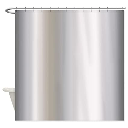 CafePress Metallic Silver Shower Curtain Decorative Fabric 69quot