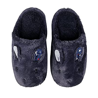 Cute Animal House Slippers Hedgehog Dog Family Indoor Slippers Waterproof Sole Fuzzy Bedroom Slippers for Kids