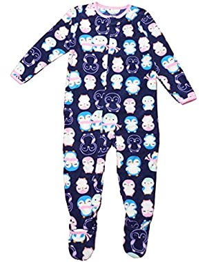 Child of Mine Made By Carter's Little Girls' Toddler Microfleece Blanket Sleeper Navy