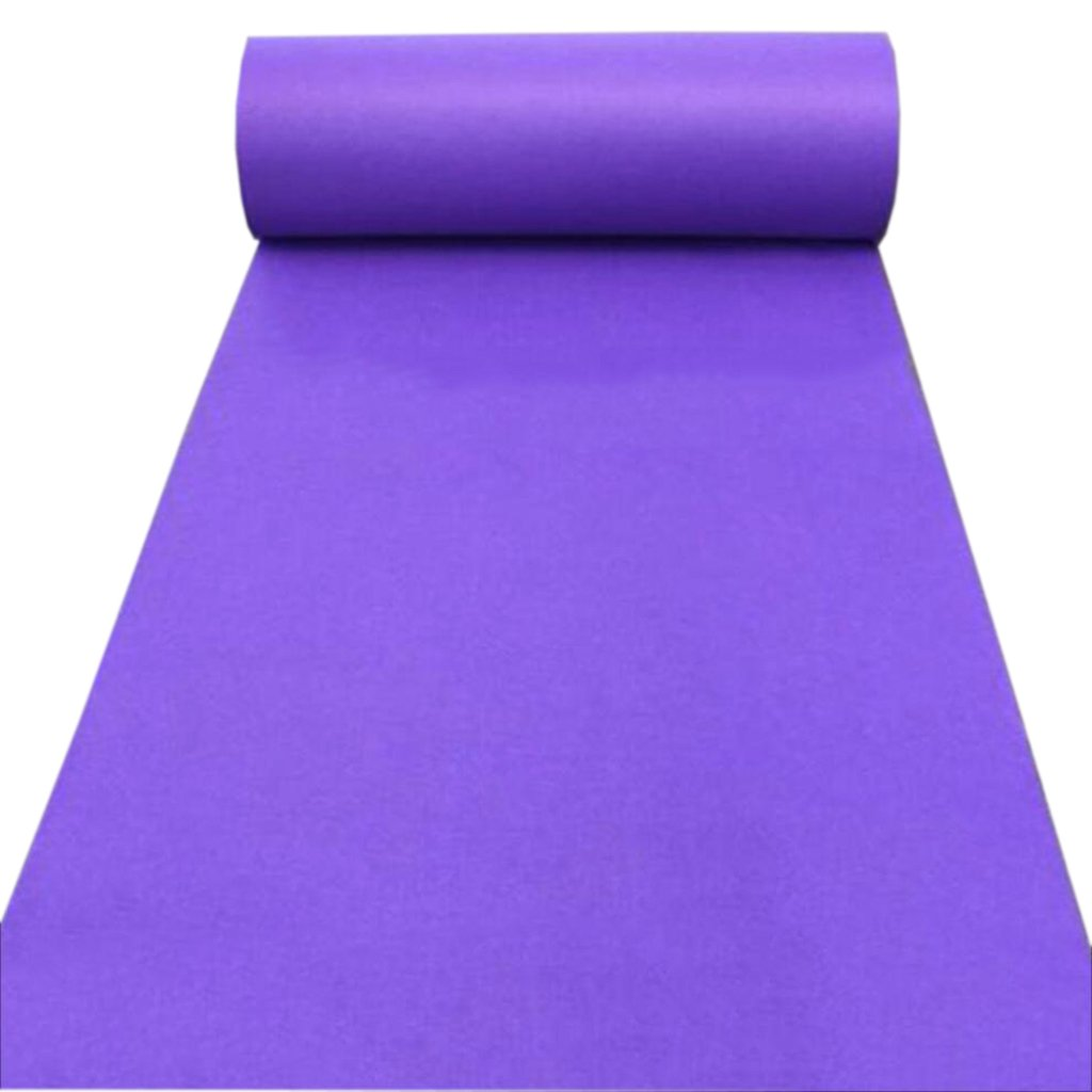 Chi Cheng Fang Electronic business Carpet Wedding Rug Purple Rug Wedding Opening Ceremony Exhibition Dance Stairs Full Shop Rectangular Rug Wedding Supplies (Color : Purple, Size : 0.8m10m)