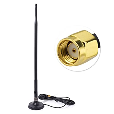 2x 3.5DBi 4g Antenna SMA Male Plug Booster 9.84ft Cable Magnetic Base RG174 3M