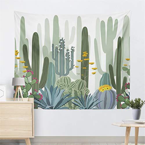 (Cactus Watercolor Hanging Wall Tapestries Mandala Bohemian Tapestry Landscape Wallpaper Wall Art Shawl Throw Light Gray 200CMX150CM)