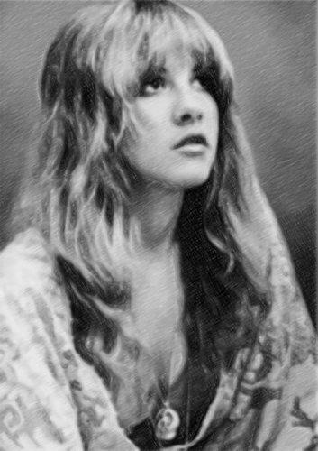 Stevie Nicks - Original Art Print A4 - Signed by the Artist