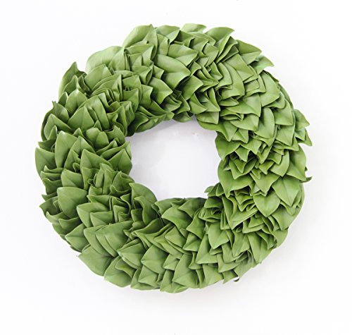 Dried Magnolia (All Natural Greenery Magnolia Wreath - Dried and Color Enhanced to a beautiful sage green home accent wreath.)